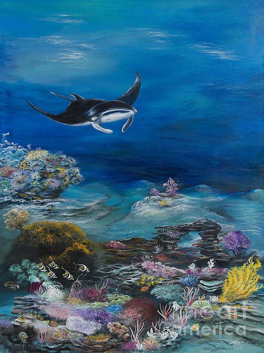 John Garland  Tyson - Manta reef Print