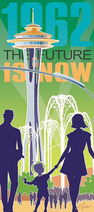 Larry Hunter - The Future is Now - green Print