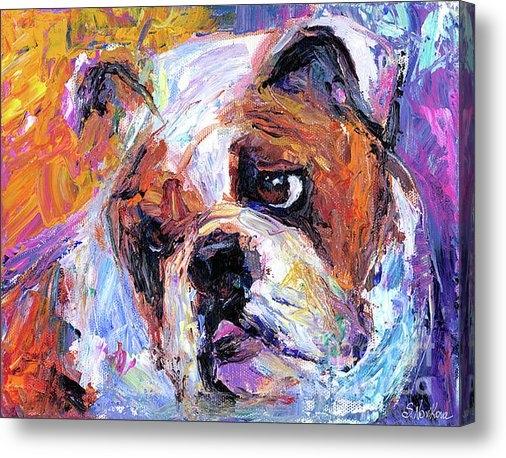 Svetlana Novikova - Impressionistic Bulldog p... Print