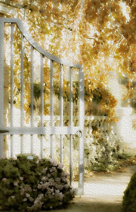 Julie Palencia - Peaceful English Garden Print