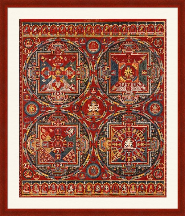 Tilen Hrovatic - Four Mandalas of the Vajr... Print