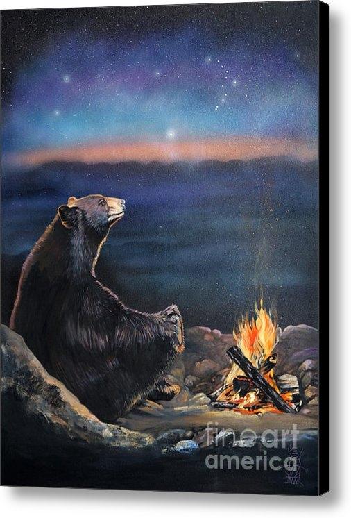J W Baker - How Grandfather Bear crea... Print