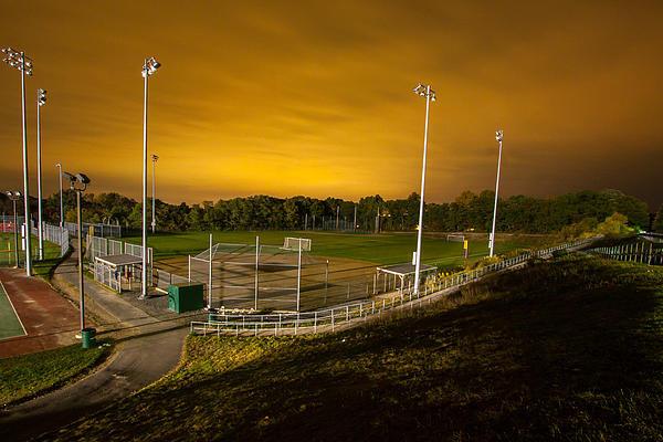 Brian MacLean - Ball field at Night Print