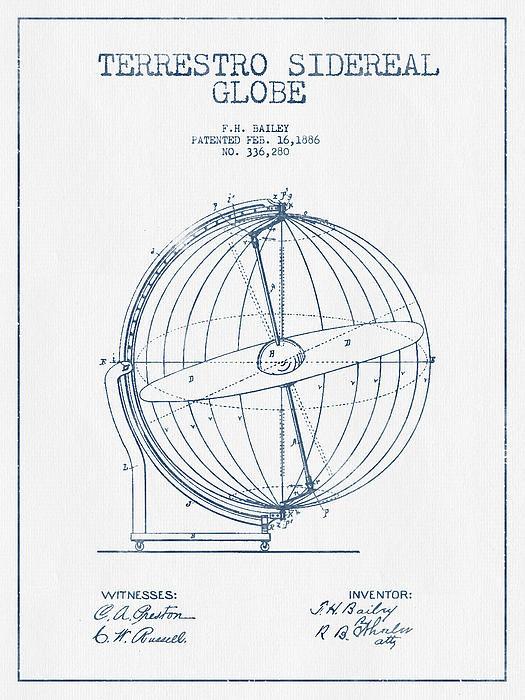 Aged Pixel - Terrestro Sidereal Globe ... Print