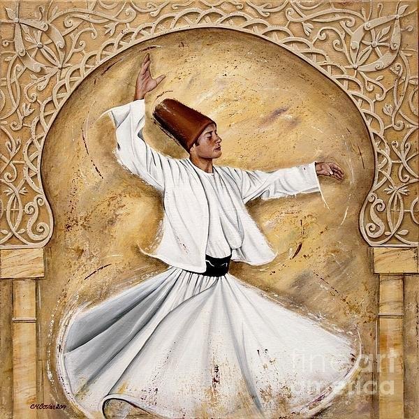Carol Bostan - Ottoman Dervish on Cream Print