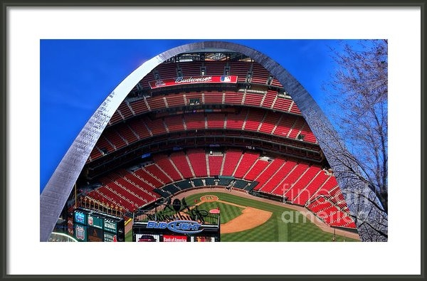 Thomas Woolworth - Busch Stadium A Zoomed Vi... Print