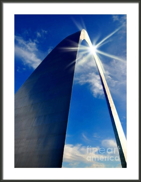 Lane Erickson - St. Louis Arch and Sun Re... Print