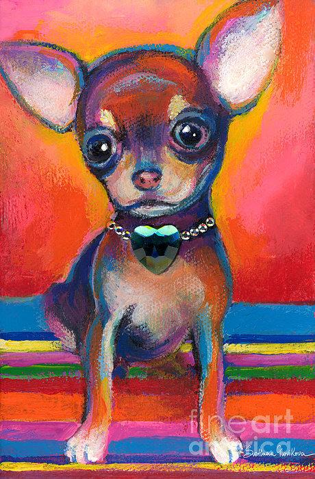 Svetlana Novikova - Chihuahua dog portrait Print