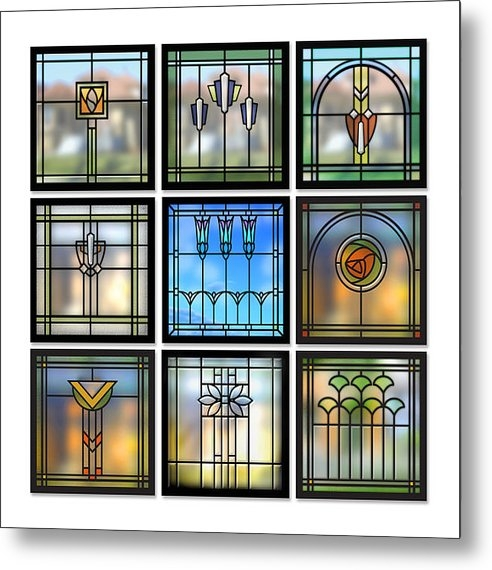 Geoff Strehlow - 9 Bungalow Windows Print