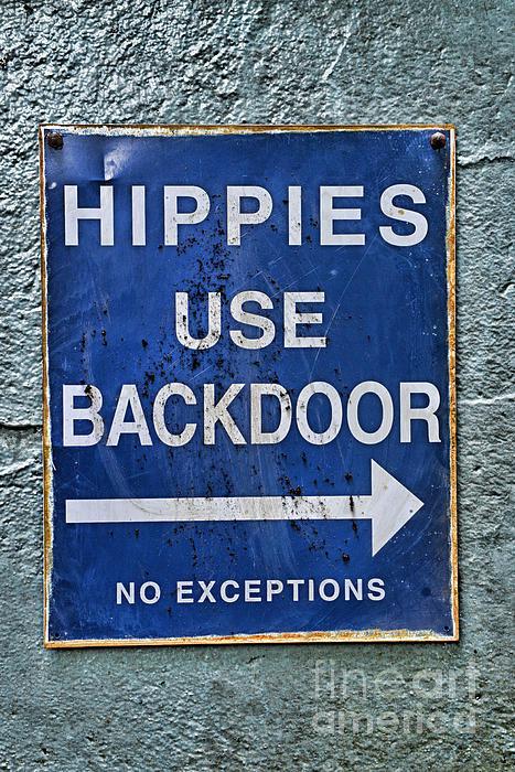 Paul Ward - Hippies Use Back Door in ... Print