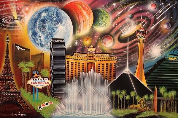 Tony Vegas - Cosmic Las Vegas Print