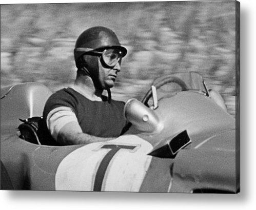 Robert Van Es - Fangio Mercedes Print