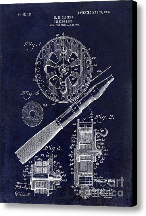 Jon Neidert - 1906 Fishing Reel Patent ... Print