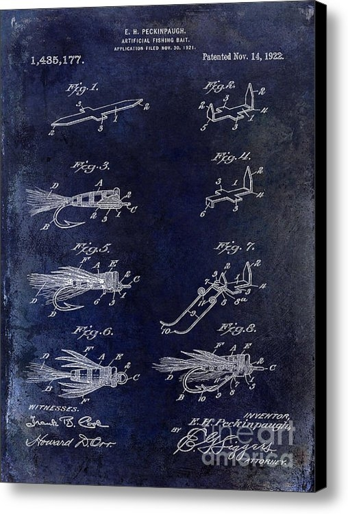 Jon Neidert - 1922 Fly Fishing Lure Blu... Print