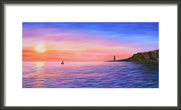 Kristine Mueller Griffith - Sunset Sailing Print