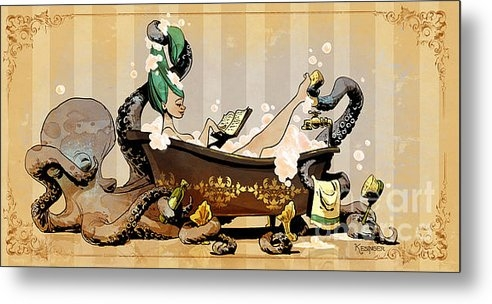 Brian Kesinger - Bath Time With Otto Print