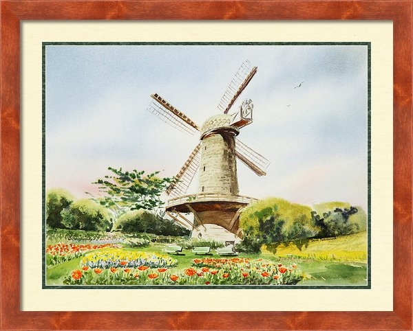 Irina Sztukowski - Dutch Windmill in San Fra... Print