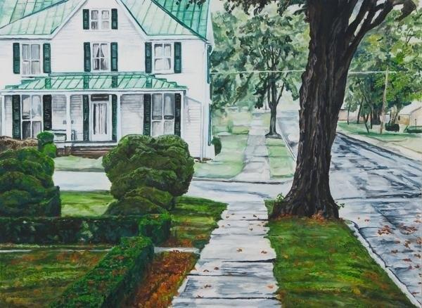 Thomas Akers - Rain on Green Roof Print