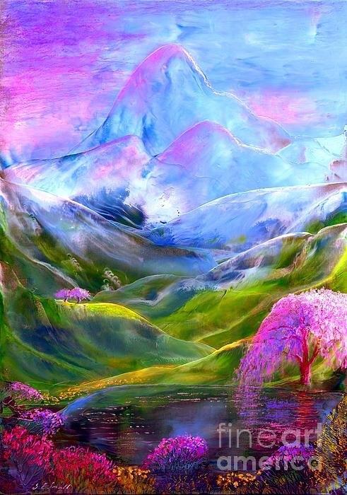 Jane Small - Blue Mountain Pool Print
