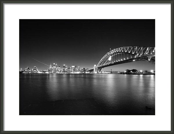 Jorgen Opsann - Sydney skyline and Harbor... Print