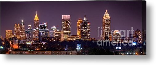 Jon Holiday - Atlanta Skyline at Night ... Print