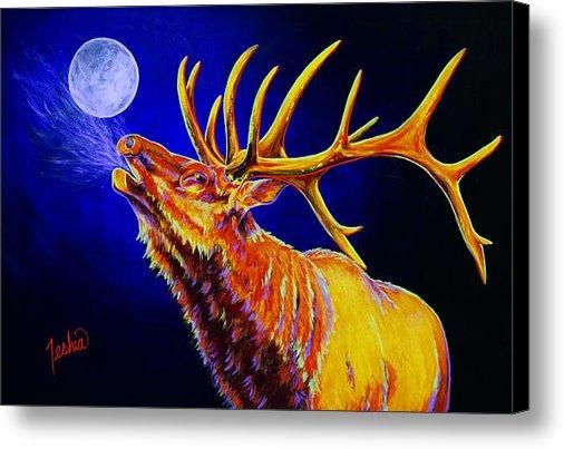 TeshiaArt - Bull Moon Print