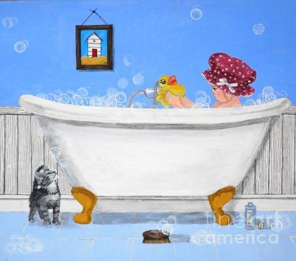 Tracey Kemp - Bath Time Print