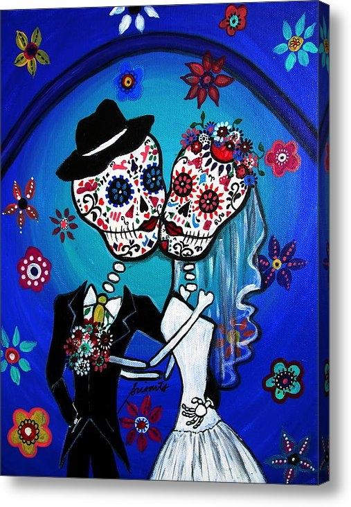 Pristine Cartera Turkus - Dia De Los Muertos Kiss T... Print