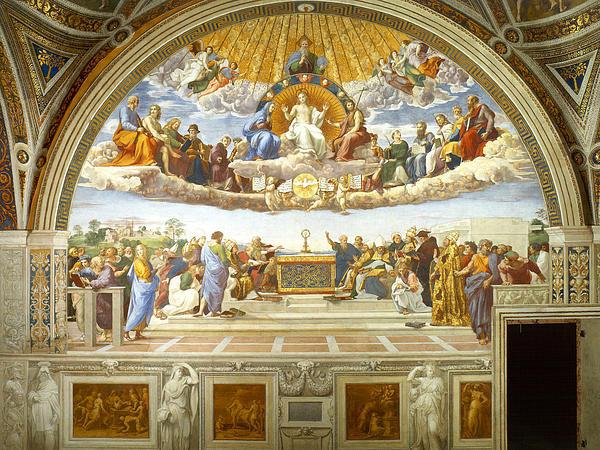 Raphael - Disputation of Holy Sacra... Print