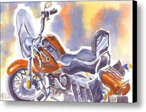 Kip DeVore - Harley in Watercolor II Print