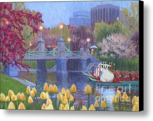 Candace Lovely - Rainy Day Swan Pond Print