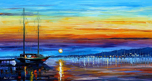Leonid Afremov - Sunset Over Eternity - PA... Print