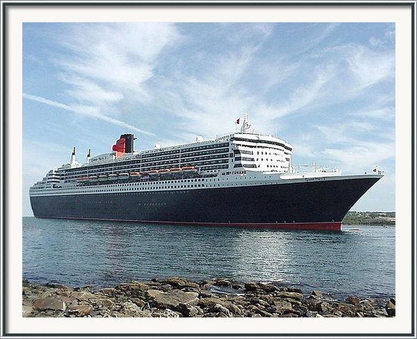 George Cousins - Queen Mary 2 in Halifax Print