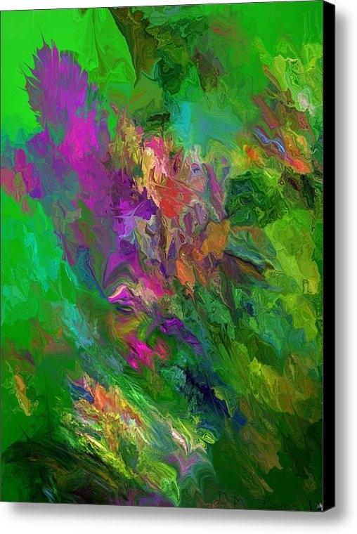 David Lane - Abstract Floral Fantasy 0... Print