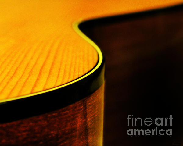 Deborah Smith - Golden Guitar Curve Print