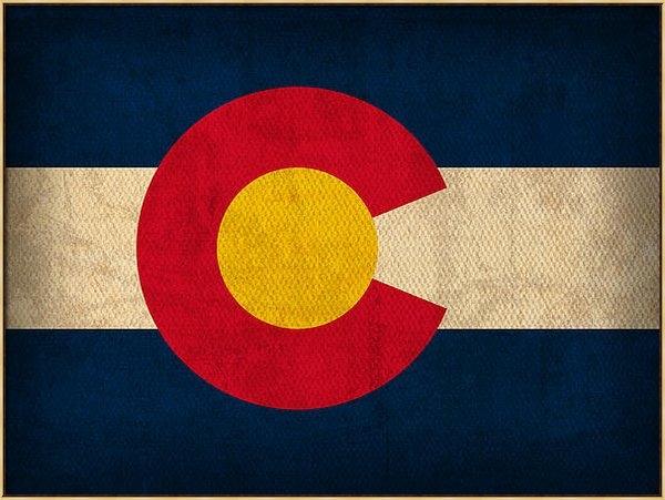 Design Turnpike - Colorado State Flag Art o... Print