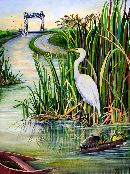 Elaine Hodges - Louisiana Wetlands Print