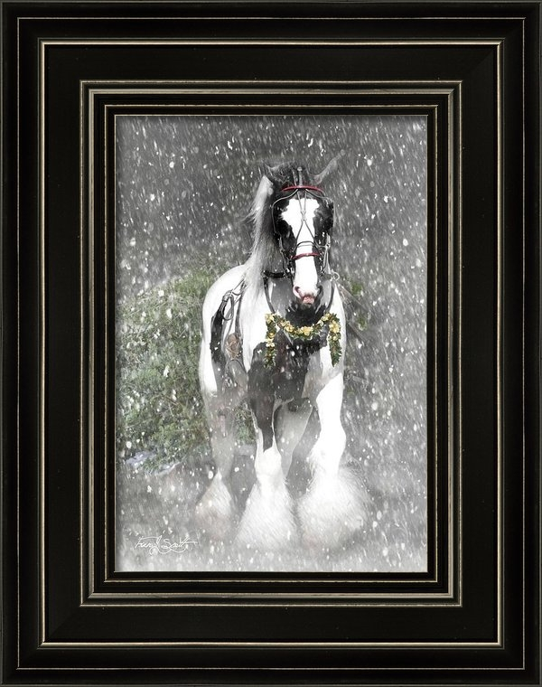Fran J Scott - Bringing home the Christm... Print