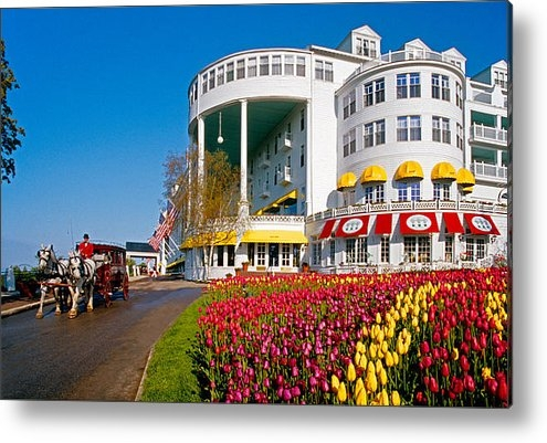 Dennis Cox WorldViews - Mackinac Grand Hotel Print