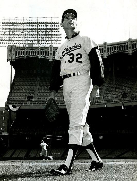 Sanely Great - Sandy Koufax Vintage Base... Print