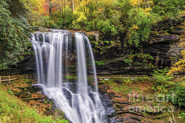 Anthony Heflin - Dry falls in fall Print