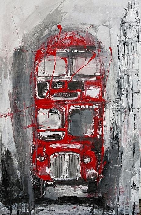 Irina Rumyantseva - London Bus Print