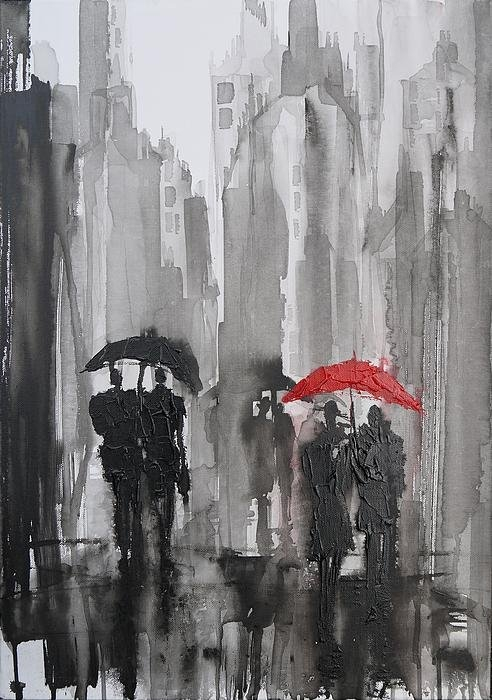 Irina Rumyantseva - The Red Umbrella Print