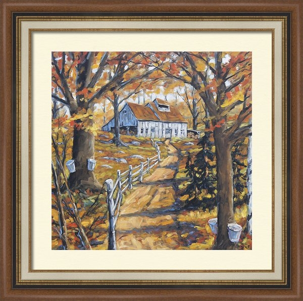 Richard T Pranke - Maple Sugar Bush  Road by... Print