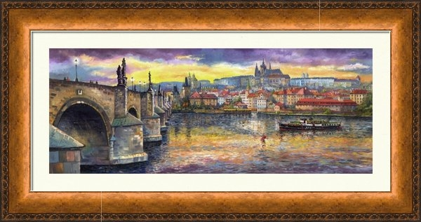 Yuriy  Shevchuk - Prague Charles Bridge and... Print
