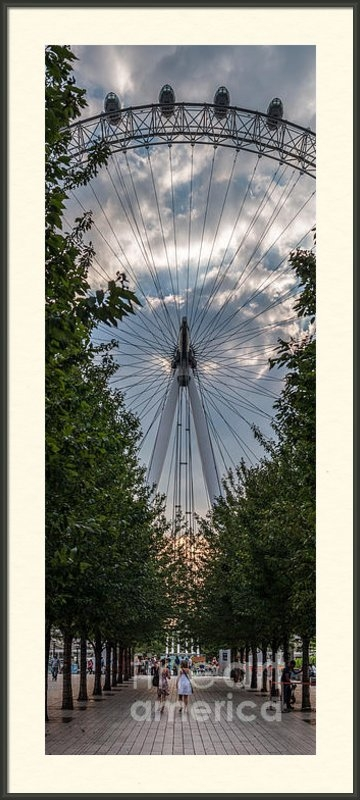 Matt Malloy - London Eye Vertical Panor... Print