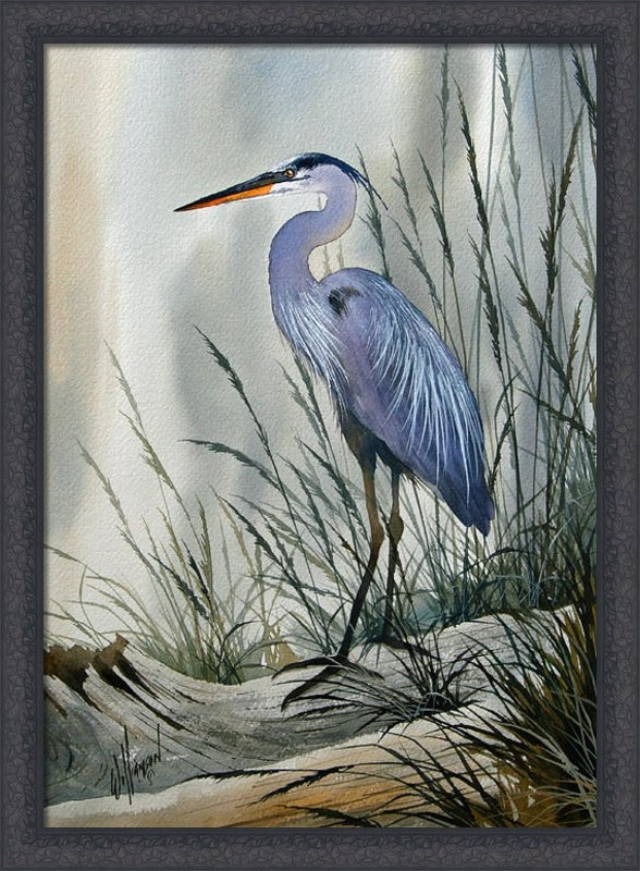 James Williamson - Herons Sheltered Retreat Print