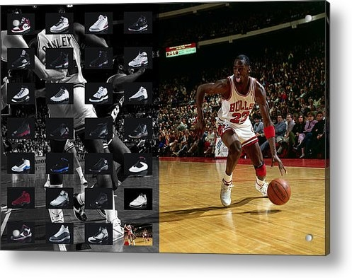 Joe Hamilton - Michael Jordan Shoes Print
