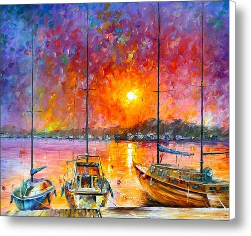 Leonid Afremov - Ships Of Freedom Print