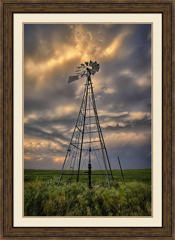 Thomas Zimmerman - Windmill Storm Print